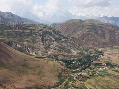 Kyzylsu Valley  |  Gypsum karst and landslide