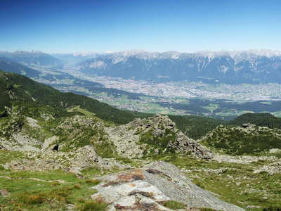 Innsbruck panorama with Patscherkofel