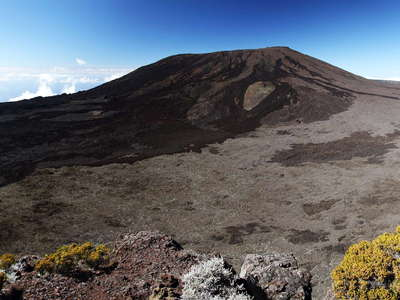 Piton de la Fournaise  |  Enclos Fouqué with summit cone