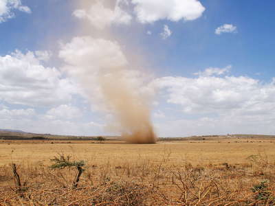 East African Rift Valley  |  Dust devil