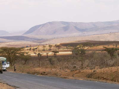 East African Rift Valley with Mt. Suswa