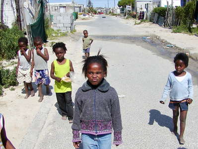 Khayelitsha  |  Street scene with children