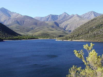 Koos Raubenheimer Dam and Swartberg Mountains