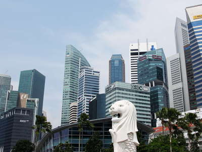 Merlion and Financial District