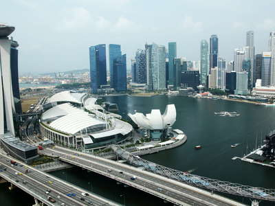 Marina Bay Sands Hotel and Financial District