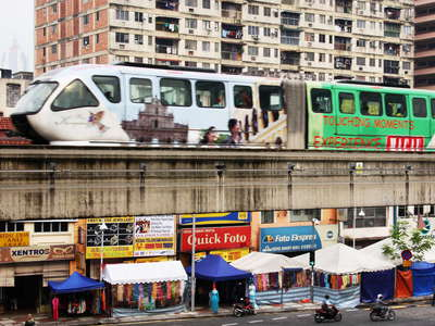 Kuala Lumpur  |  Chow Kit with KL Monorail