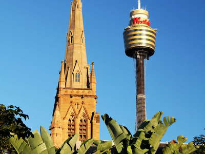 Sydney  |  St. Mary's Cathedral and Sydney Tower