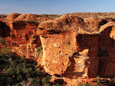 Watarrka NP  |  Kings Canyon with sandstone domes