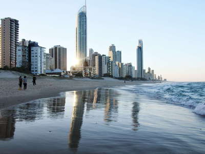 Surfers Paradise  |  Reflecting skyline