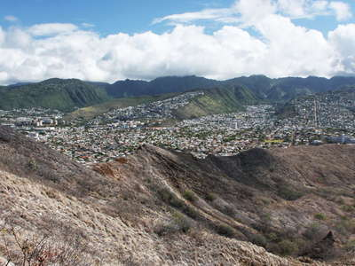 Honolulu  |  Diamond Head and Ko'olau Range