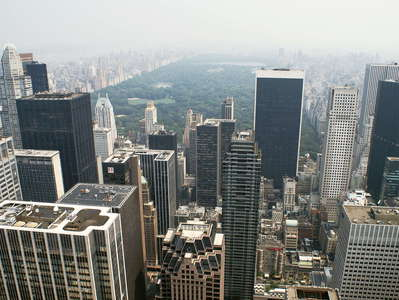 Midtown Manhattan and Central Park