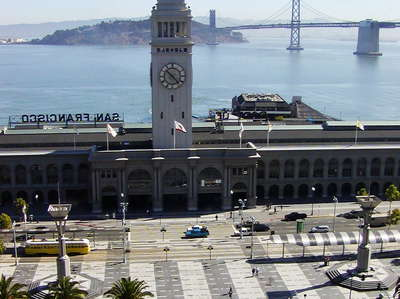 San Francisco  |  Ferry Building and Bay Bridge