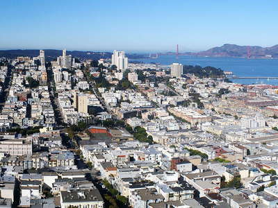 San Francisco  |  Russian Hill and Golden Gate Bridge