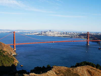 Golden Gate Bridge with San Francisco
