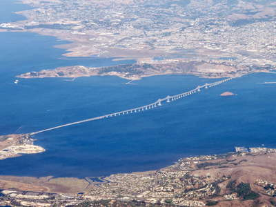 San Francisco Bay with Richmond-San Rafael Bridge