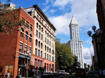 Seattle  |  Pioneer Square with Smith Tower