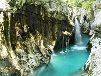 Trenta Valley  |  Great Soča Gorge with waterfall