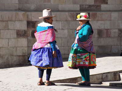 Carhuaz  |  Women in traditional outfit