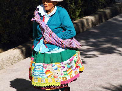 Carhuaz  |  Woman in traditional outfit