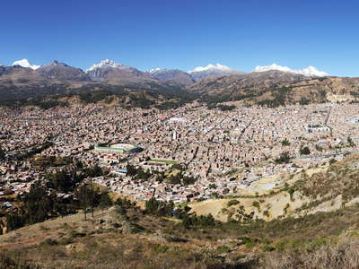 Huaraz  |  Panoramic view with Cordillera Blanca