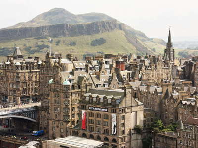 Edinburgh  |  City centre and Arthur's Seat