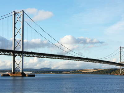 South Queensferry  |  Firth of Forth with Forth Road Bridge