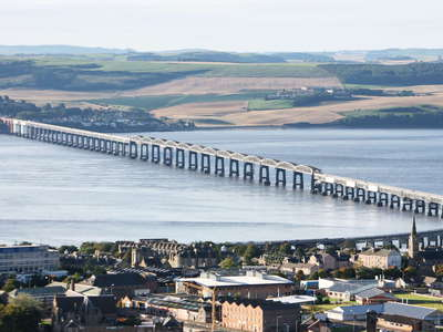 Dundee  |  Firth of Tay with Tay Bridge