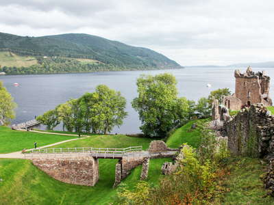 Urquhart Castle with Loch Ness