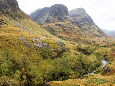 Glen Coe in autumn colours