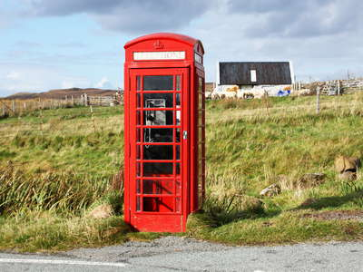 Isle of Skye  |  Phone box