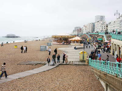 Brighton Beach and West Pier