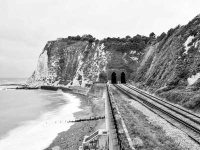 Dover  |  Shakespeare Cliff and railway