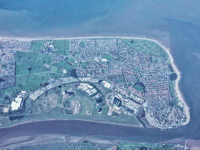 Fleetwood with estuary of River Wyre