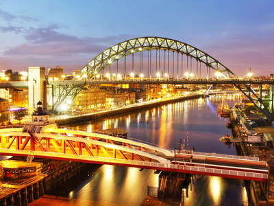 Newcastle  |  Swing Bridge and Tyne Bridge