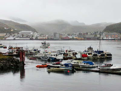 Hammerfest in a rainy afternoon