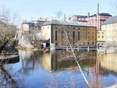 Norrköping  |  Motala with industrial landscape