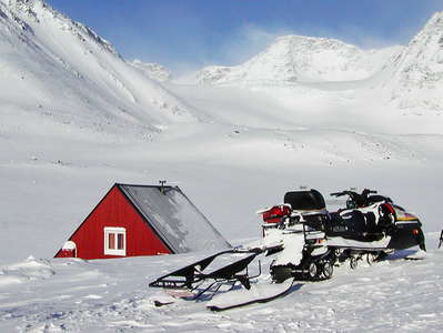 Tarfala Research Station and Isfallsglaciären