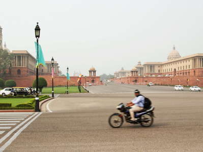 New Delhi  |  Raisina Hill with Secretariat buildings