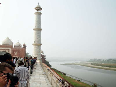 Agra  |  Taj Mahal with Yamuna River
