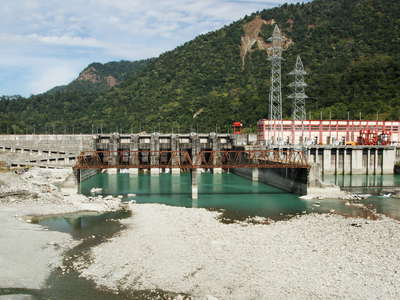 Kalijhora  |  Teesta River with hydropower station