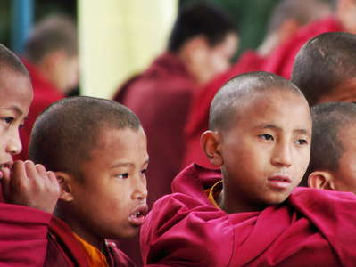 Darjeeling  |  Young monks at Dali Monastery