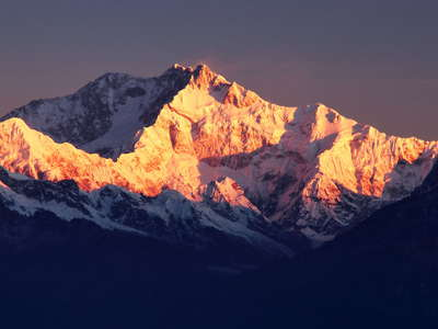 Sunrise at Kangchenjunga