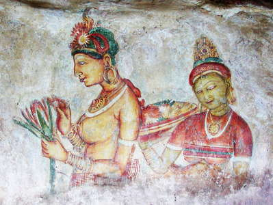 Sigiriya  |  Ancient fresco