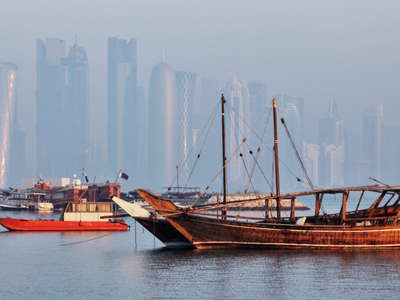 Doha  |  Dhow Harbour and West Bay