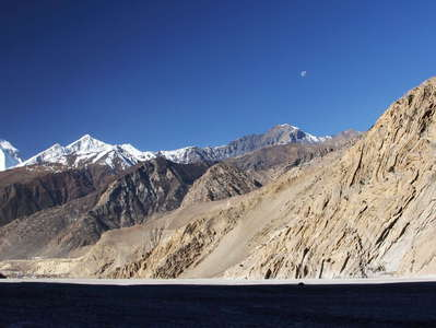 Kali Gandaki Valley with Jomsom and Dhaulagiri