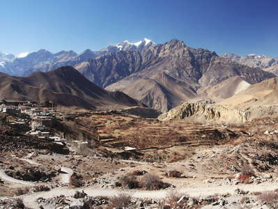 Jhong Khola Valley  |  Panoramic view with Ranipauwa