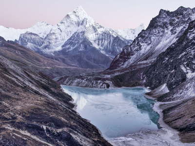 Chola Tsho and Ama Dablam