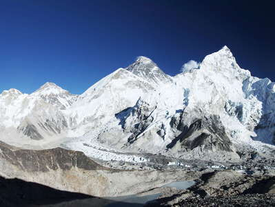 Khumbu Himal with Pumori and Mt. Everest