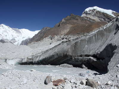 Gokyo Valley  |  Ngozumba Glacier with lake