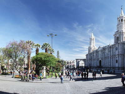 Arequipa  |  Plaza de Armas with cathedral